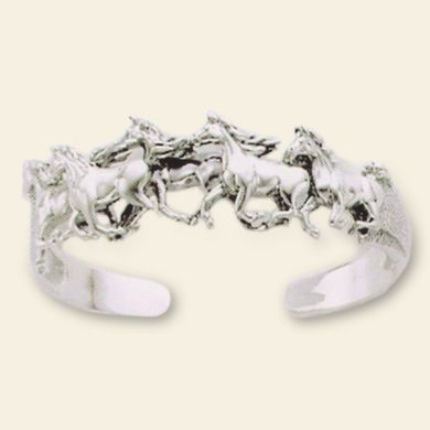 Cantering Horse Cuff Bracelet