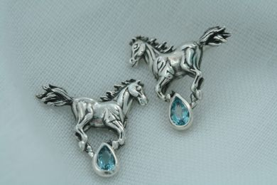 Saratoga Equestrian Earrings