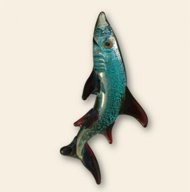 Multicolor Glass Shark Pendant 2
