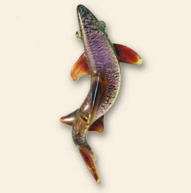 Multicolor Glass Shark Pendant 3